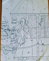 [Naruto] Mayumi in Konoha by TamerofFire