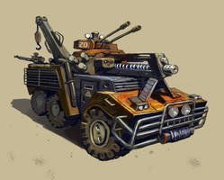 Postapocalyptic Car by Beaver-Skin