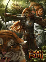 Elven Girl with Tigers Evolve by Beaver-Skin