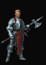 Poleaxe Knight by Beaver-Skin