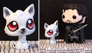 Ghost (Game of Thrones) LPS custom by pia-chu
