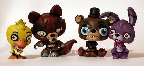 FNAF characters as LPS customs by pia-chu