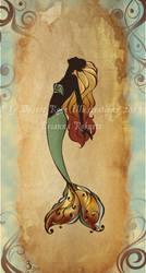 Vintage Mermaid 'B' by DreadPirateBri