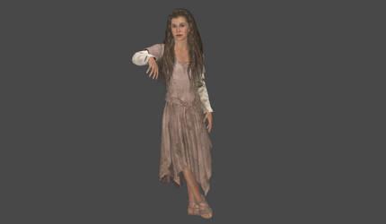 Leia Endor dress mesh mod by Lopieloo