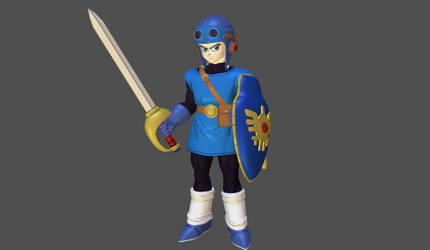Dragon Quest II hero mesh mod by Lopieloo