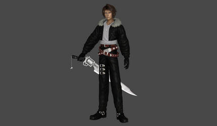 Squall Leonhart classic high poly mesh mod by Lopieloo