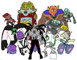 last set of ben 10 aliens by bigafroman