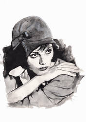 Claudia Cardinale Watercolour Portrait by PennyLame