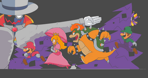 Super Paper Mario by kirbymariomega