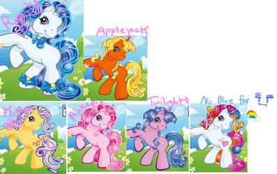 G3 Mane 6 : Ponys by ll-X-ll