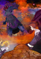 Fantastic Four vs Galactus by dnz85