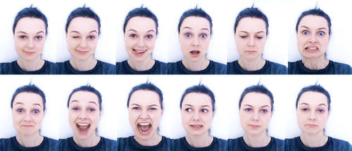 FACE expression sheet II by Miko-Noire