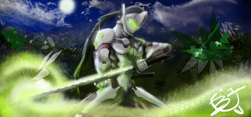 Genji - Overwatch by windrenz