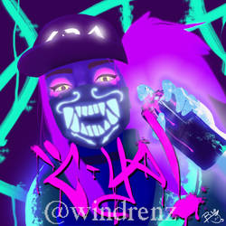 K/DA Akali by windrenz
