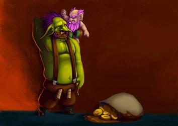 Drawlloween Gobelin et Gnome by ArtOfRebornDesign