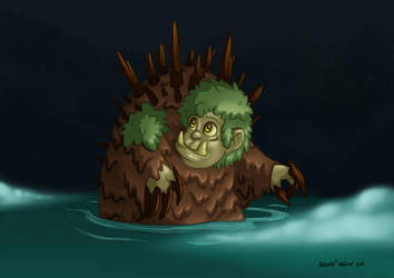 Drawlloween 2016 Day 11 Slimy Swamps Foggy Bogs by ArtOfRebornDesign