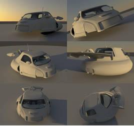 Flying Car: Ambent Renders by BenSkylinegodzilla