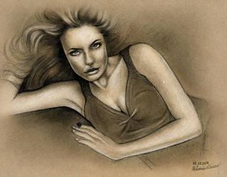 Angelina Jolie - Reclining by NickMoscovitz
