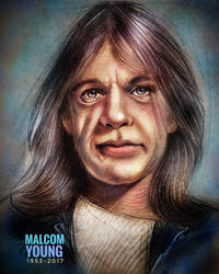 Malcolm Young RIP by NickMoscovitz