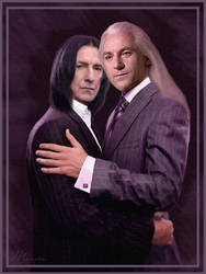 Lucius  Malfoy and Severus Tobias Snape by Marcianca