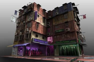 Container Apartment Block by philzero
