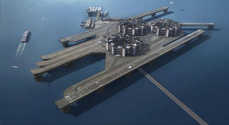 Floating Offshore Airport by philzero