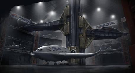Airport MultiStory Terminal by philzero