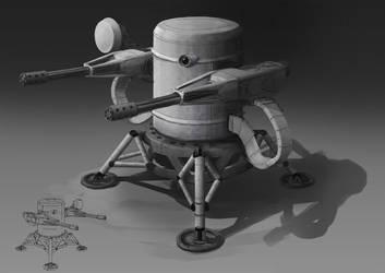 Lunar Defence Turret by philzero