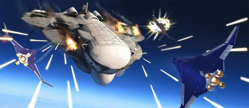Space Battle by philzero