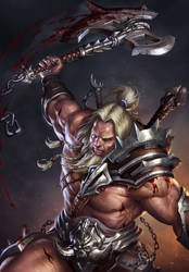 Diablo 3 - Barbarian by SirenD