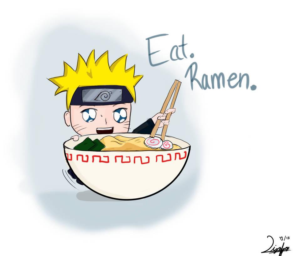 image wallpaper naruto: Naruto Eating Ramen