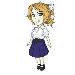 Foreigner Student in Thai unifrom by Flanalia