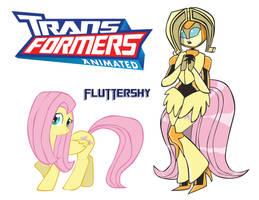 Transformares Fluttershy by Inspectornills