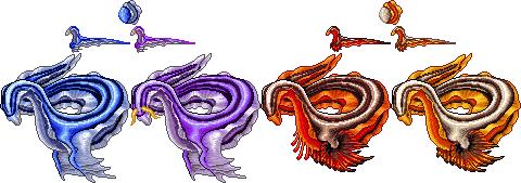 Abyssal and Basalt Chromodor Leviathans by MythsAndDreams