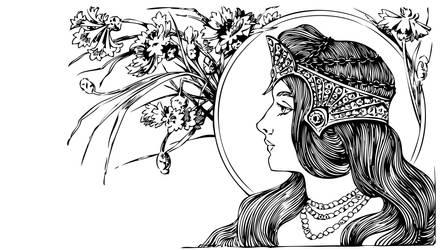 Art nouveau woman by e-designer