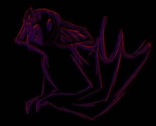 Drawtober ~ Bat by HauntedLantern