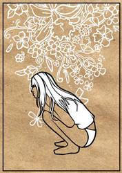 menina no jardim by Mateu