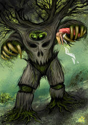 The Tree Monster by Volcannah