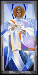 Metatron, Angel of Mathematics by Volcannah