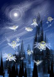 Snowflake Angels by Volcannah