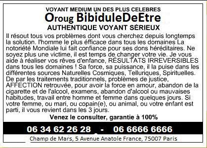 Carte De Visite Du Gourou Oroug By BibiduleDeEtre