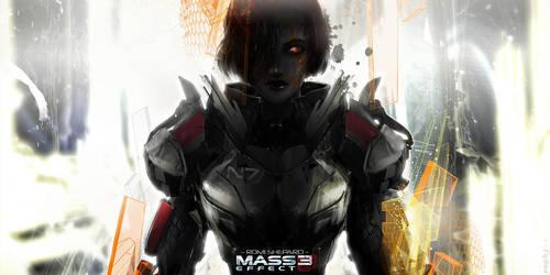 Mass Effect 3 fanart - Romi Shepard by sephyka