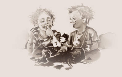 ickle Weasley twins sketch by Peregrinus5Floh