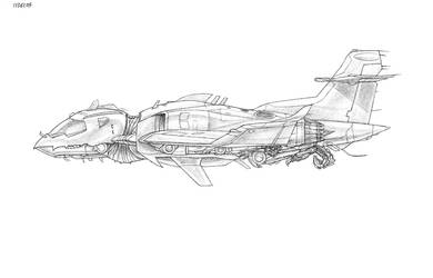 robot plane left side by rogue-freighter