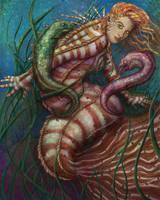 Moray Mermaid: Pterois by LibertineM