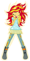 Sunset Shimmer transforming into Phoenix by Zuko42
