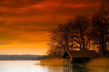 House over lake by mutrus