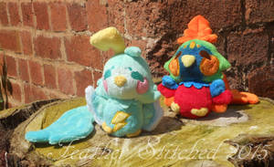Thunder Bird and Phoenix for Mimiero by FeatherStitched