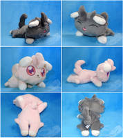 Espurr Beanies by FeatherStitched