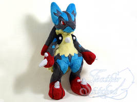Mega Lucario Plush (SOLD) by FeatherStitched